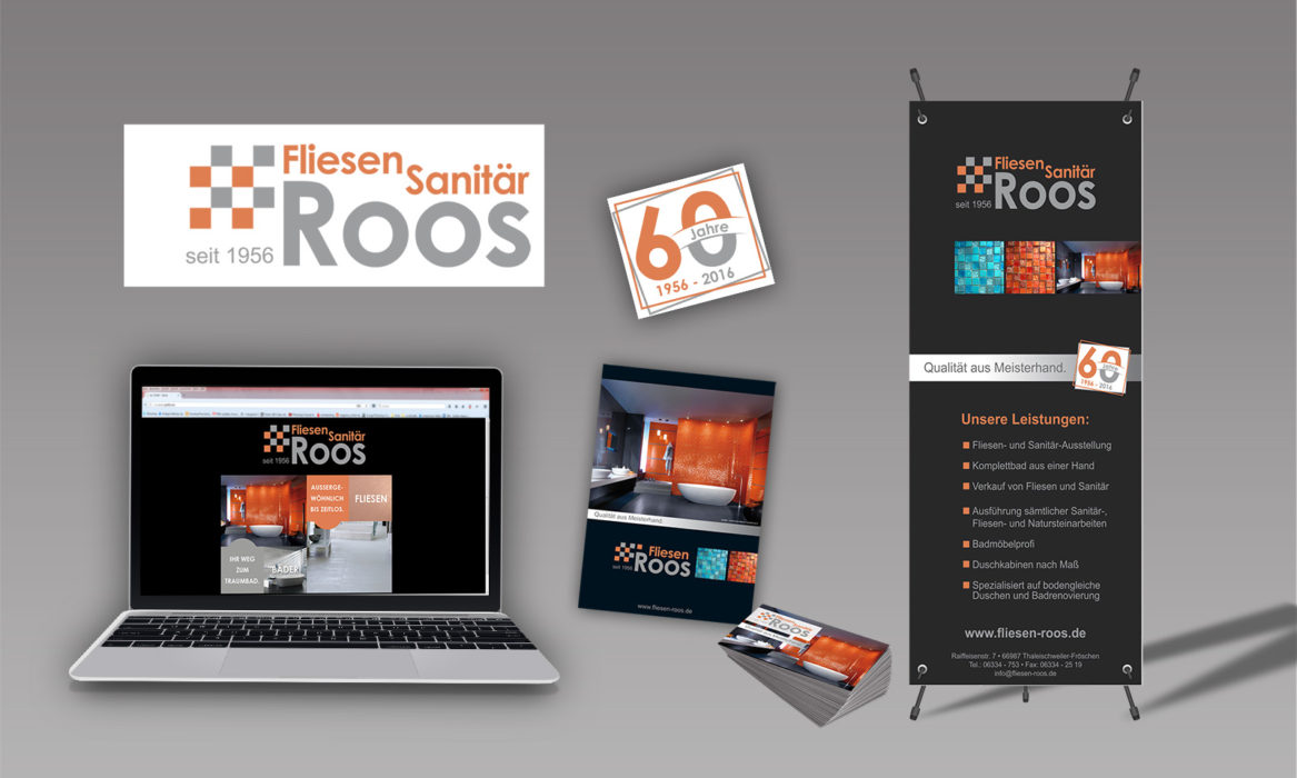 Corporate Design Fliesen Roos